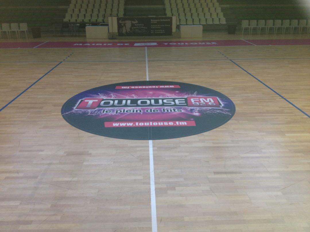 Adhésif repositionnable IND'n'GO - Rond central Toulouse Métropole Basket