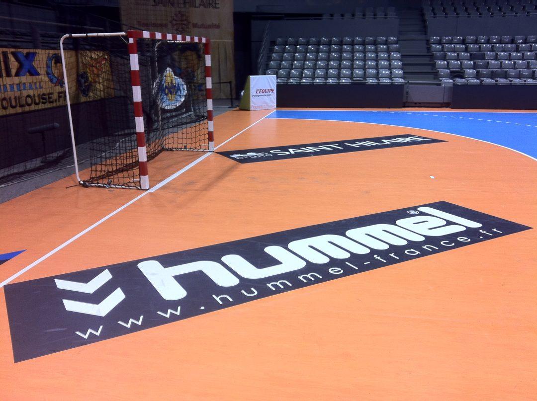 Adhésif repositionnable IND'n'GO pour terrain de handball - FENIX Toulouse Handball