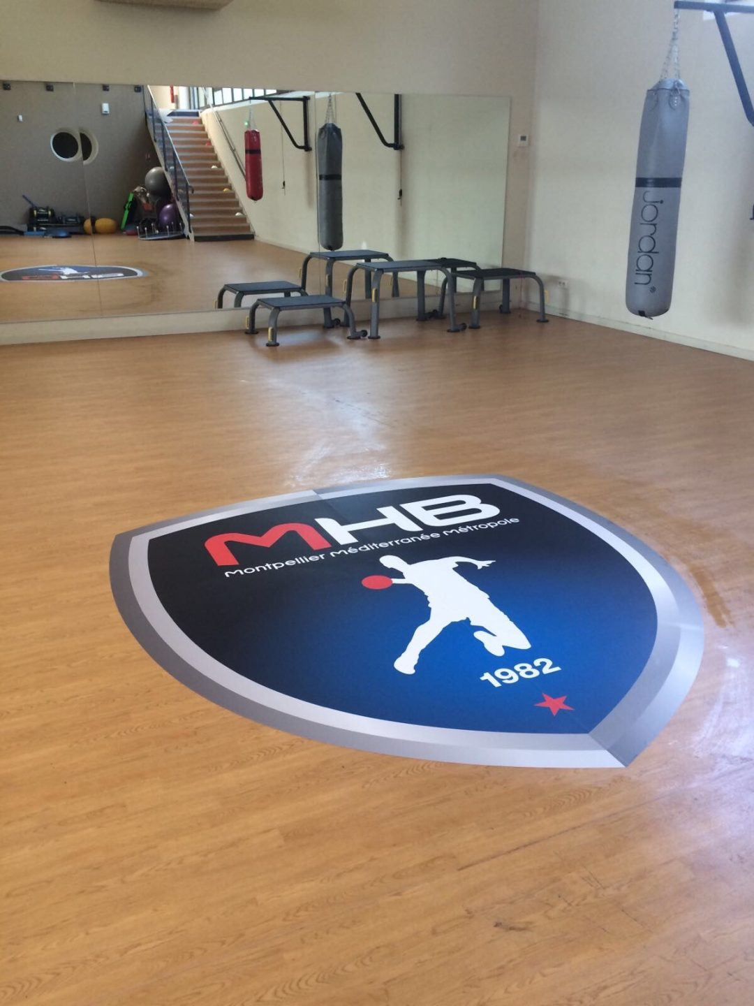 Sticker repositionnable IND'n'GO pour terrain de handball - MHB