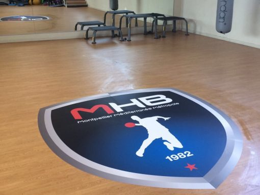 Sticker repositionnable IND'n'GO pour terrain de handball – MHB